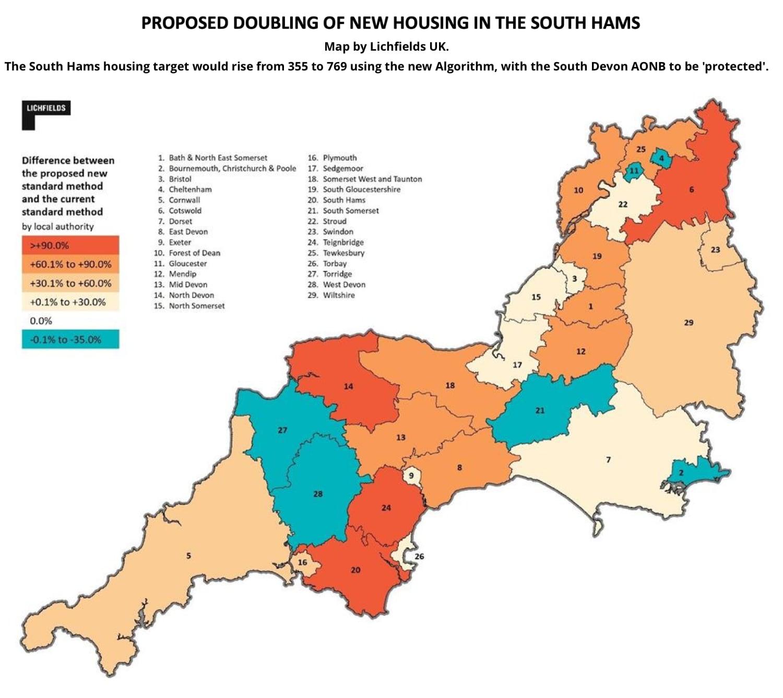 South Hams housing map
